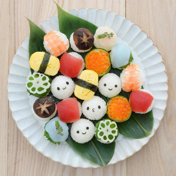 おにぎり型お弁当グッズ海苔パンチ手まりこむすびmini×2(おむすび型オニギリ型まんまるおにぎり)