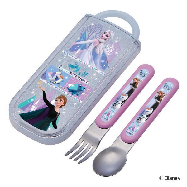 コンビセット スプーン フォーク スライド式 アナと雪の女王 カトラリー 子供 ( アナ雪 食洗機対応 キッズ カトラリーセット 持ち運び )