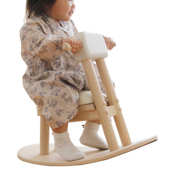 木馬 ロッキングホース 子供用 乗り物 おもちゃ 玩具 キッズ家具 ( 天然木 子供部屋 子ども部屋 )