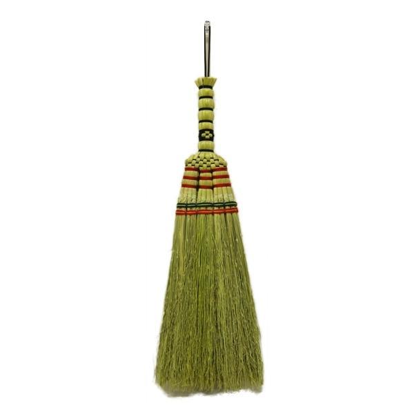 ほうき 座敷ほうき 手編み 短柄 屋内 ( 箒 ホウキ ほうき草 そうじ せいそう 掃き掃除 絨毯 じゅうたん 畳 コンパクト カーペット )