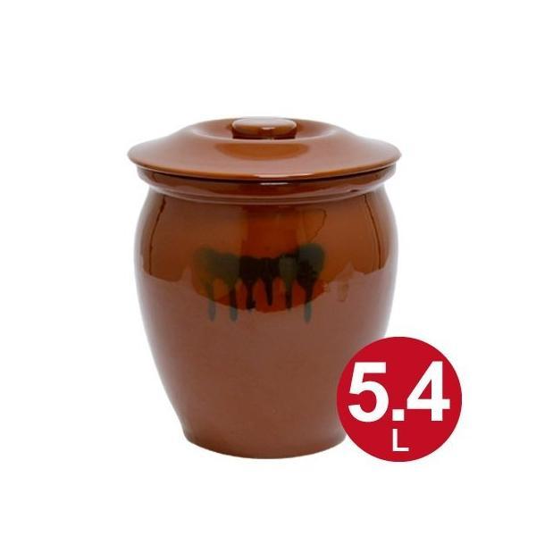 漬物容器 丸かめ 3号 5.4L 蓋付き 陶器 ( 漬物樽 つけもの容器 漬け物容器 )