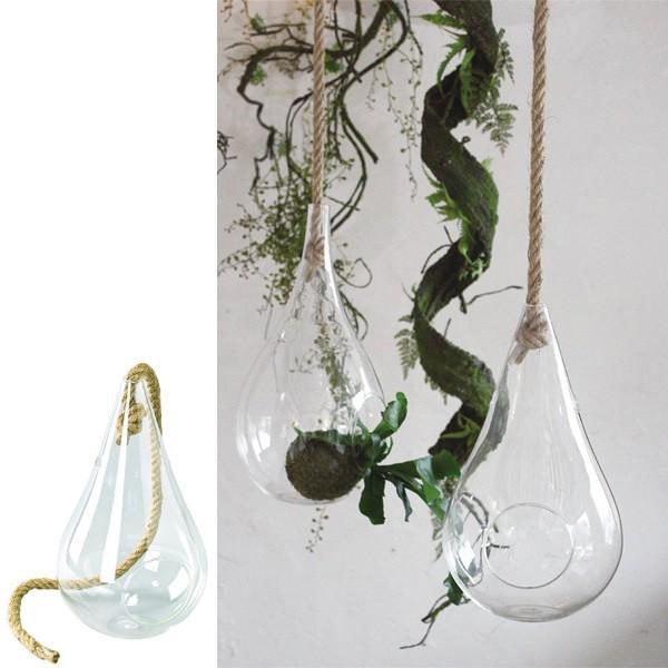 花瓶 ガラスハンギングベース Mサイズ ( 花瓶 花器 ガラス )