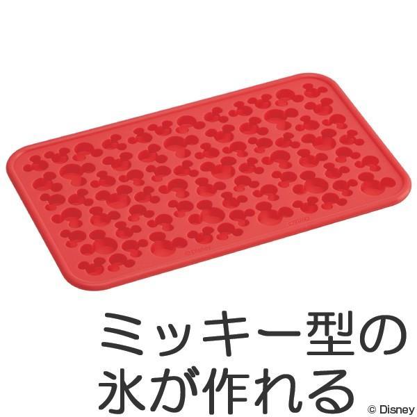 製氷皿 クラッシュアイストレー シリコン製 ミッキーマウス ディズニー ( 冷やし型 製菓道具 お菓子作り )