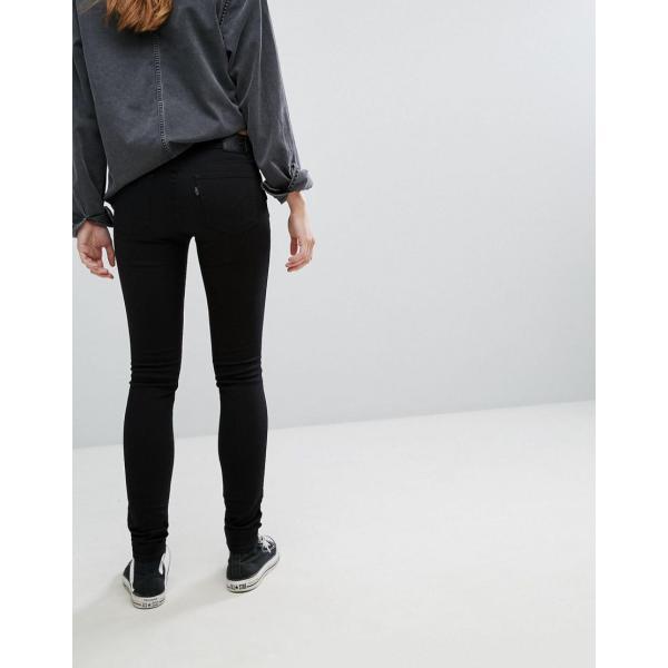 リーバイス ジーンズ レディース Levi's 711 Mid Rise Skinny Jeans エイソス ASOS ブラック 黒 スキニー 日本未入荷 新作 人気 インポート|colors-kira|02