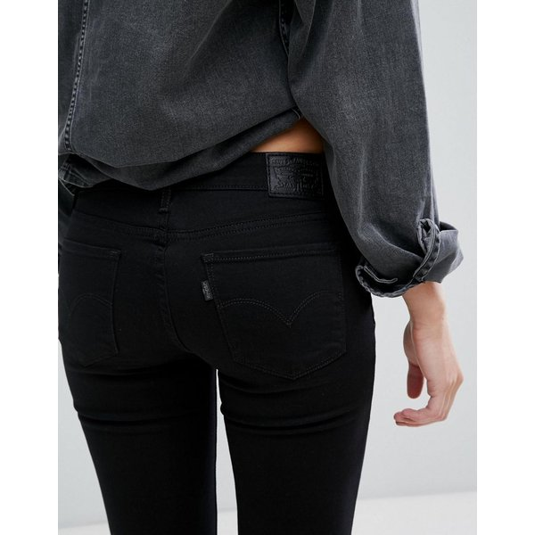 リーバイス ジーンズ レディース Levi's 711 Mid Rise Skinny Jeans エイソス ASOS ブラック 黒 スキニー 日本未入荷 新作 人気 インポート|colors-kira|03