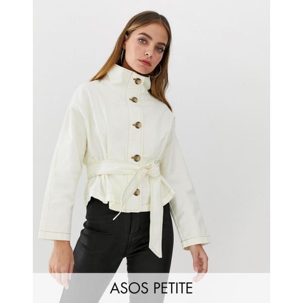 エイソス ジャケット レディース ASOS DESIGN Petite waisted jacket エイソス ASOS