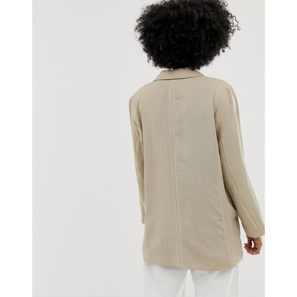 ウィークデイ ジャケット レディース Weekday oversized blazer in beige エイソス ASOS ベージュ