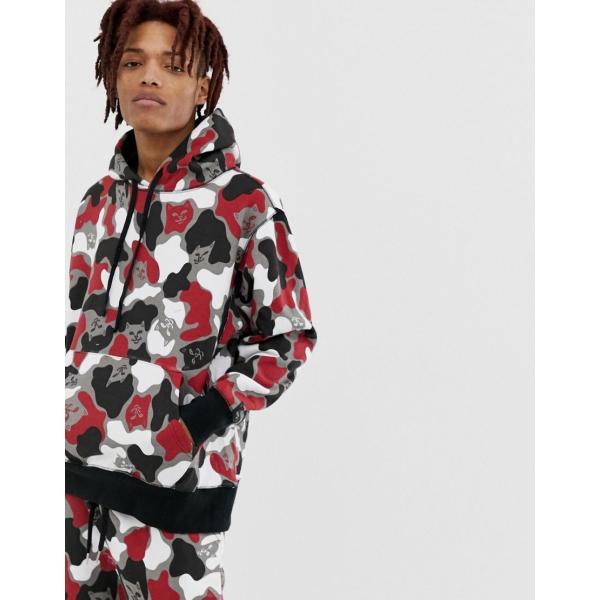 d2d51dcba82b5 リップンディップ パーカー スウェット メンズ RIPNDIP Nermcamo hoodie in red camo エイソス ASOS レッド 赤