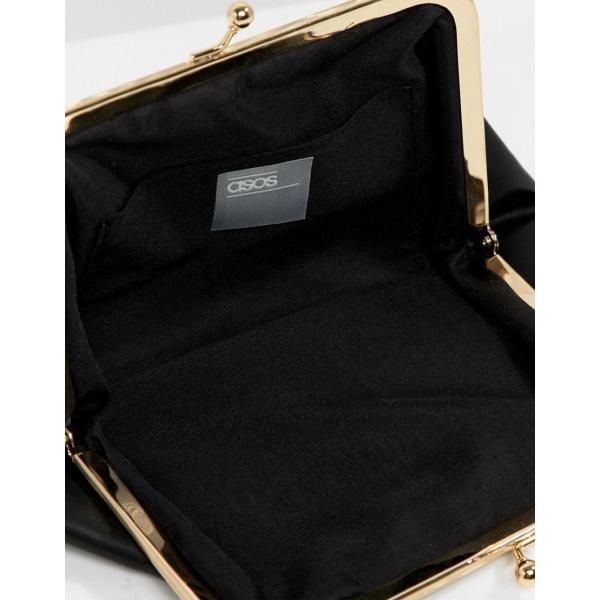 エイソス ハンドバッグ レディース ASOS DESIGN plastic & tort grab handle bag with frame clutch inner エイソス ASOS