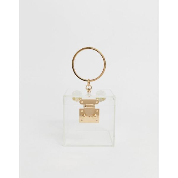 エイソス ハンドバッグ レディース ASOS DESIGN clear box vanity bag エイソス ASOS