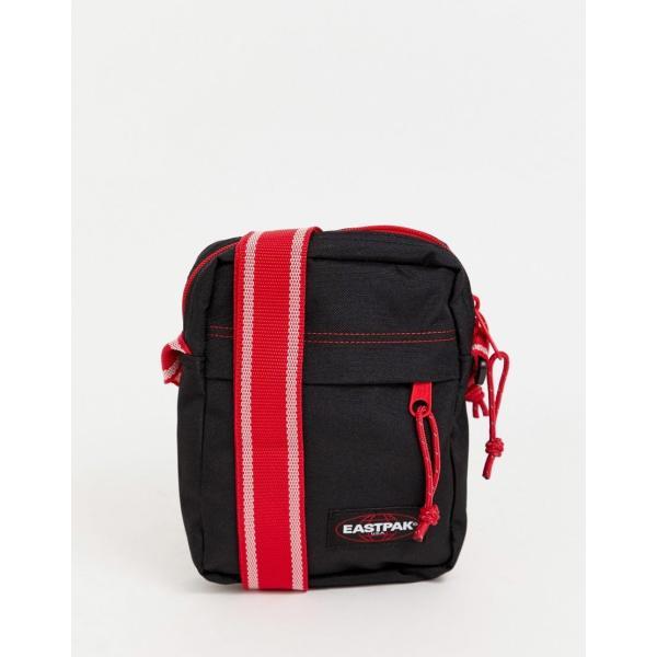 イーストパック ショルダー メッセンジャー バッグ メンズ Eastpak The One 2.5l flight bag with contrast straps in black エイソス ASOS ブラック 黒