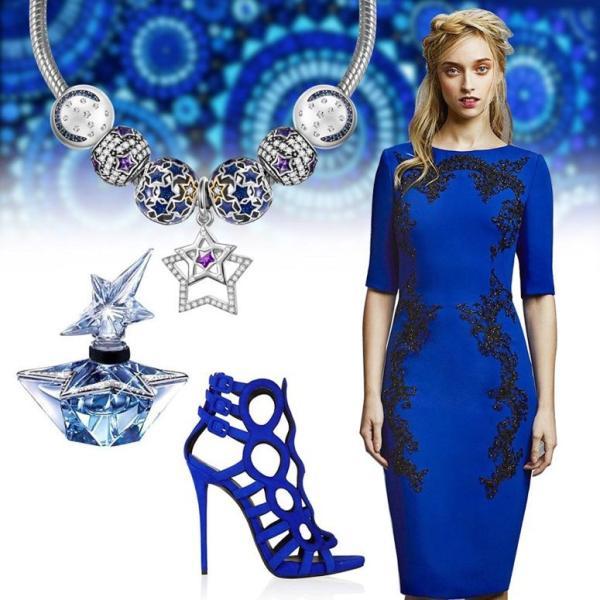 チャーム ブレスレット バングル用 Style Nina Queen スタイル ニーナ クイーン デザイン 限定 星 紫 シルバー ゆらゆら揺れる