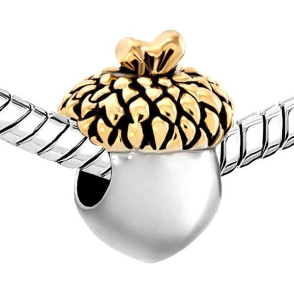 チャーム ブレスレット バングル用 CharmSStory チャームズストーリー Golden Leaf Acorn Fruit Charms Beads For Bracelets