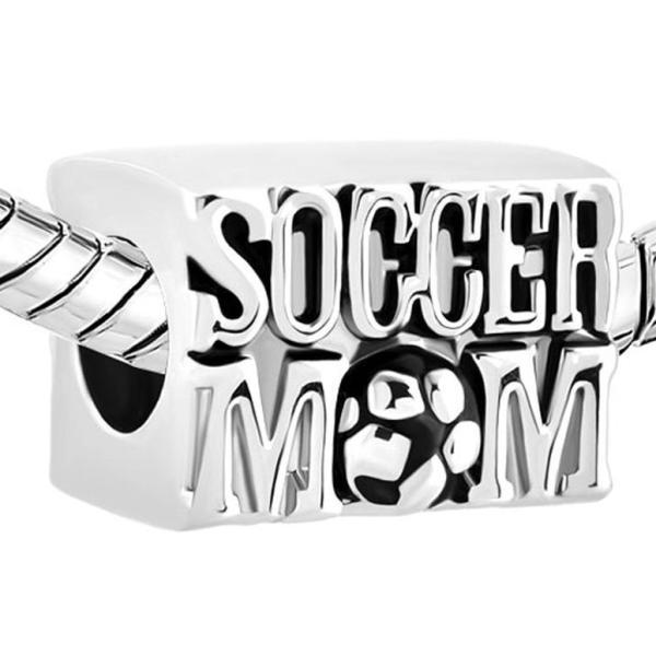 チャーム ブレスレット バングル用 CharmSStory チャームズストーリー Soccer Mom Football Sports Lover Charm Beads Charmss For Bracelets