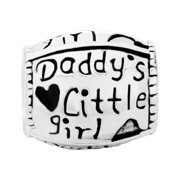 チャーム ブレスレット バングル用 LovelyJewelry ラブリージュエリー  Sterling Silver Daddy's Little American Girl Family Charms Sale Cheap Jewelry Beads