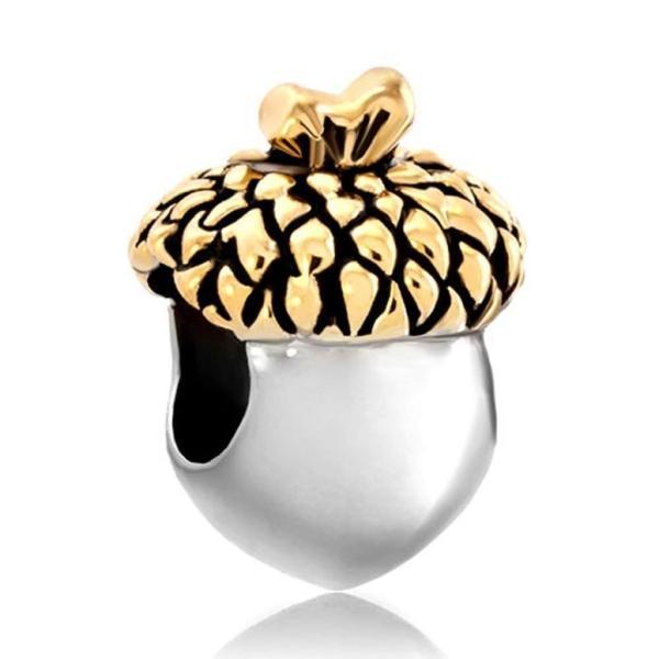チャーム ブレスレット バングル用 LovelyJewelry ラブリージュエリー  Leaf Filbert Fruit Lucky Charm New Sale Cheap Beads Fit Pandora Jewelry Charms Brac