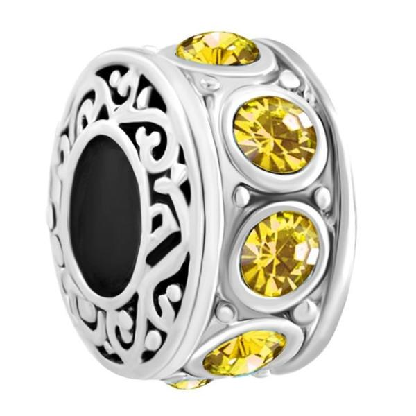チャーム ブレスレット バングル用  ShinyJewelry シャイニージュエリー ShinyJewelry Spacer Charm Beads For Bracelets