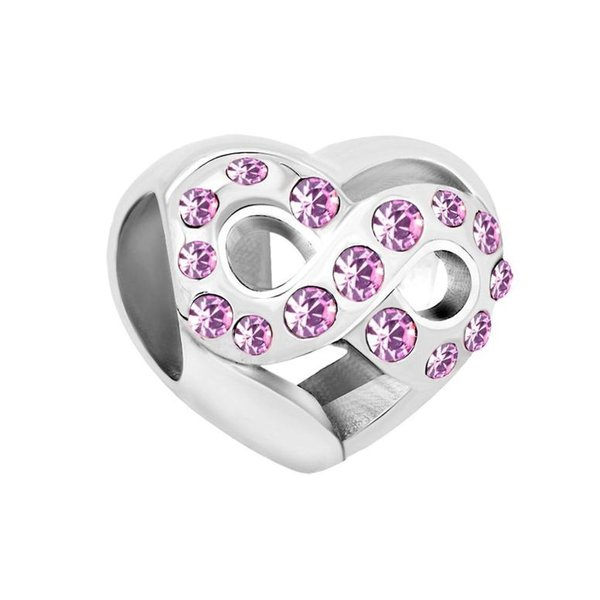 チャーム ブレスレット バングル用  ShinyJewelry シャイニージュエリー ShinyJewelry Infinity Heart Love Charm Bead for European Bracelet