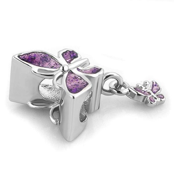 チャーム ブレスレット バングル用  ShinyJewelry シャイニージュエリー ShinyJewelry Butterfly Charm Dangle Bead for Bracelet