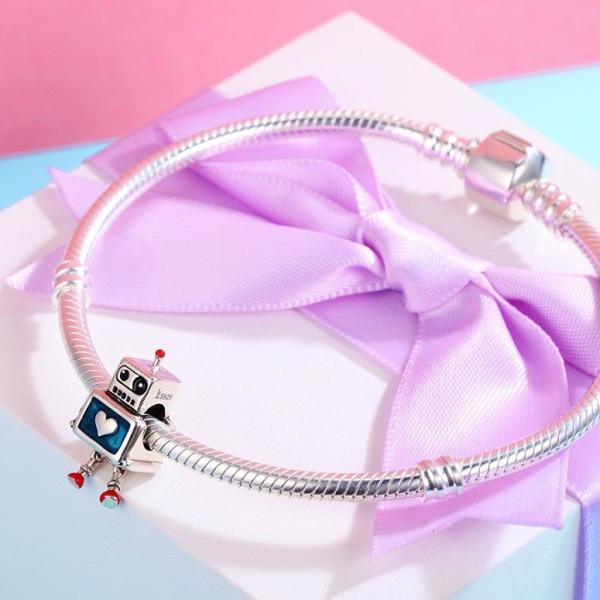 チャーム ブレスレット バングル用 BAMOER バモア BAMOER 925 Sterling Silver Dazzling Daisy Plant Charm Fit Bracelet With Clear Cubic Zirconia DIY Access
