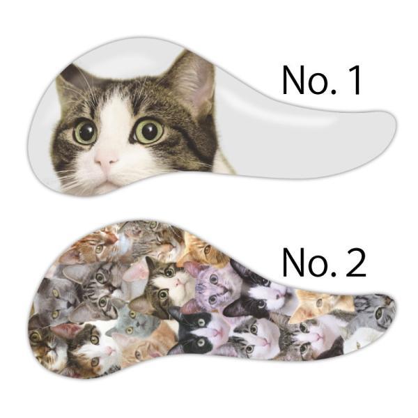 ネコ柄ヘアブラシ 絡まない マッサージ 持ちやすい形状 コンパクトサイズ 携帯にも 猫柄 CAT  櫛 くし ブラシ|colorstage|03
