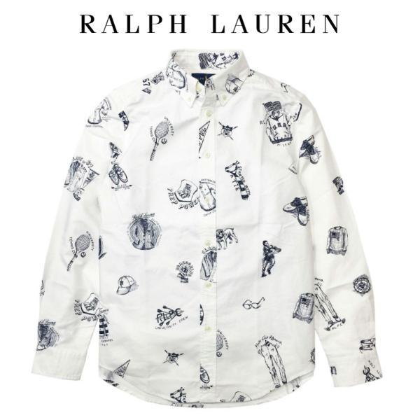 abd8c2922d346 ポロ ラルフローレン 長袖 シャツ イラスト ペイント Polo Ralph Lauren ボーイズ BOYSの画像