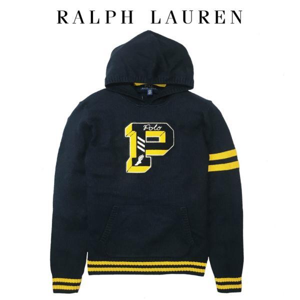 5a1eded03a085 ポロ ラルフローレン ニット セーター Pロゴ Polo Ralph Lauren ボーイズ BOYSの画像
