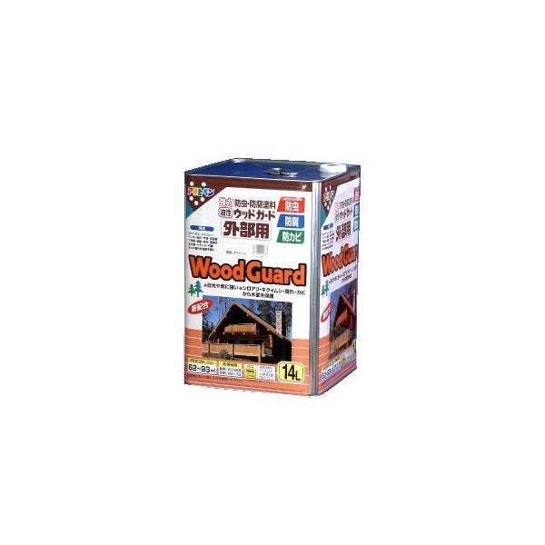 【送料無料】 アサヒペン 油性 ウッドガード外部用 透明(クリヤ) 01 (全7色) [14L] 着色半透明・油性塗料