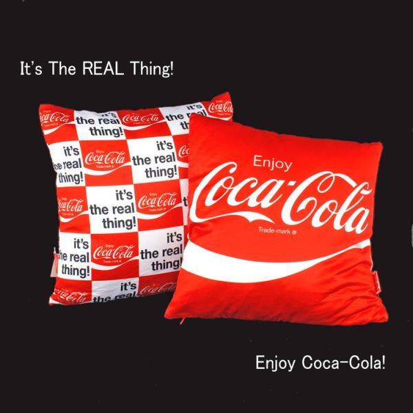 コカ・コーラブランド クッション レッド Enjoy Coca-Cola! 36×36cm COCA-COLA インテリア アメリカ雑貨