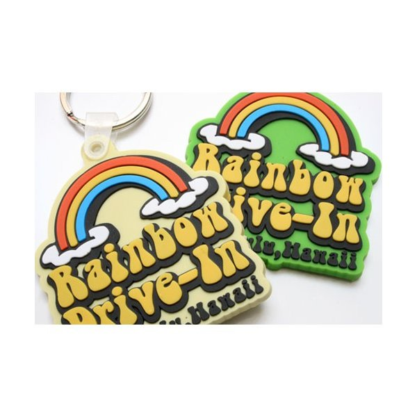 『ハワイ レインボードライブイン(Rainbow Drive-In)』 PVCキーリングレインボー
