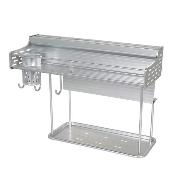 収納 DULTON ダルトン アルミニウム ウォールラック Model.H19-0021 壁掛け 2段 ラック キッチン ガレージ アメリカン雑貨