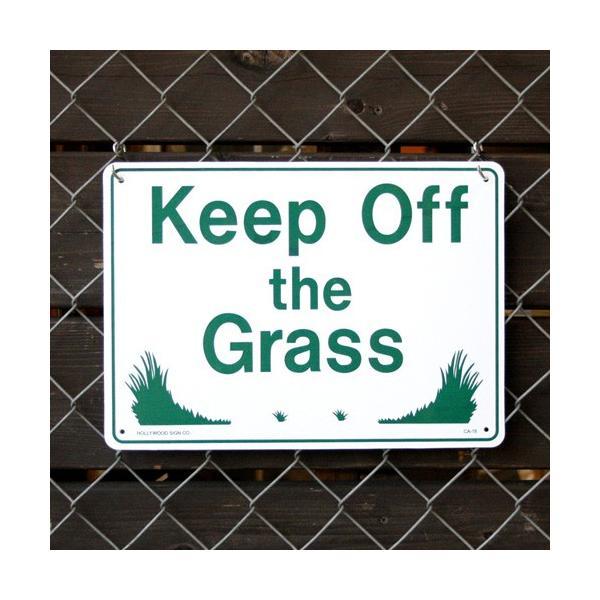 プラスチックメッセージサインボード Keep Off the Grass(芝生に入るな) CA-18 【案内看板/店舗装飾】