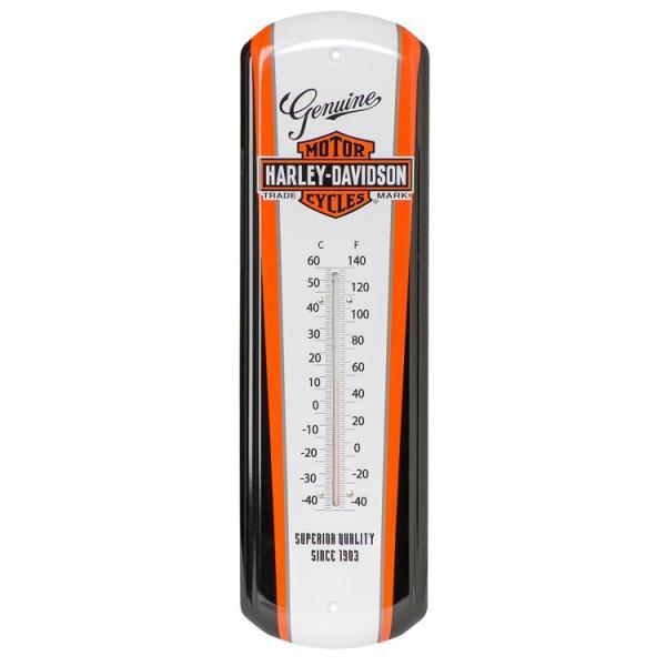 温度計 ハーレーダビッドソン ノスタルジック B&S ティン サーモメーター HDL-10089 HARLEY-DAVIDSON 壁掛け 壁面 華氏 摂氏 アメリカ雑貨