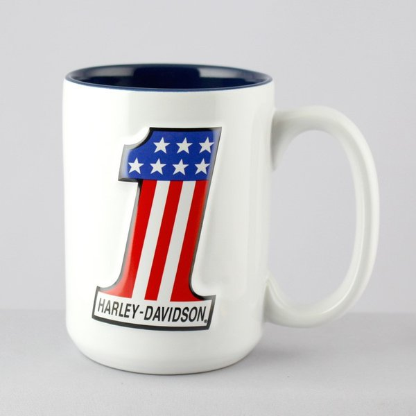 マグカップ 陶器製 ハーレーダビッドソン エンボスマグカップ #1 Harley-Davidson ライダー ギフト プレゼント アメリカ雑貨 アメリカン雑貨