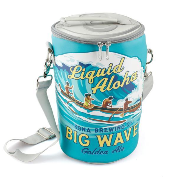 """保冷バッグ ビニールクーラーバッグ """"BIG WAVE"""" ビッグウェイブ 高さ28×直径17.5cm ビニル製 保冷  缶 アウトドア フェス ハワイ アメリカン雑貨"""