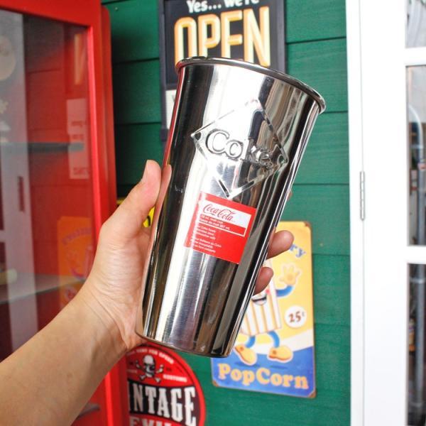 ステンレスカップ コカ・コーラ 30オンス 887ml モルトカップ with エンボスロゴ Coca-Cola CC64E キッチン雑貨 アメリカンダイナー アメリカ雑貨