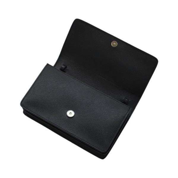 プラダ バッグ 1BH009 ショルダーバッグ ポシェット ウォレット SAFFIANO LUX NERO ネロ カーフブラック アウトレット