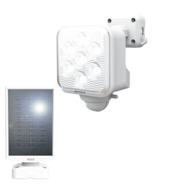 ムサシ(musashi) RITEX 5Wx1灯 フリーアーム式LEDソーラーセンサーライト S-110L
