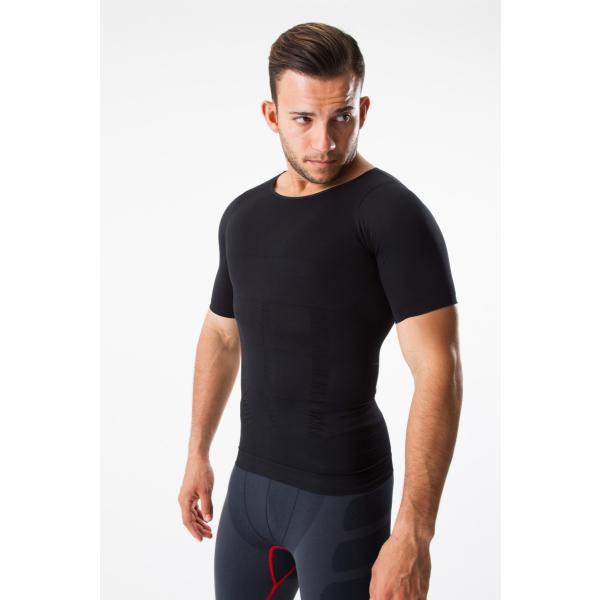 加圧シャツ コンプレッションウェア 加圧インナー 半袖 Tシャツ メンズ ダイエット 姿勢矯正 筋トレ 補正下着|comfortablegoods|07