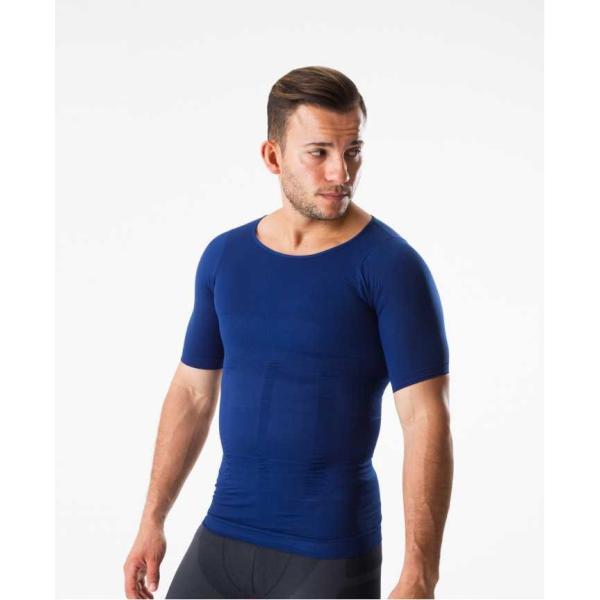 加圧シャツ コンプレッションウェア 加圧インナー 半袖 Tシャツ メンズ ダイエット 姿勢矯正 筋トレ 補正下着|comfortablegoods|09