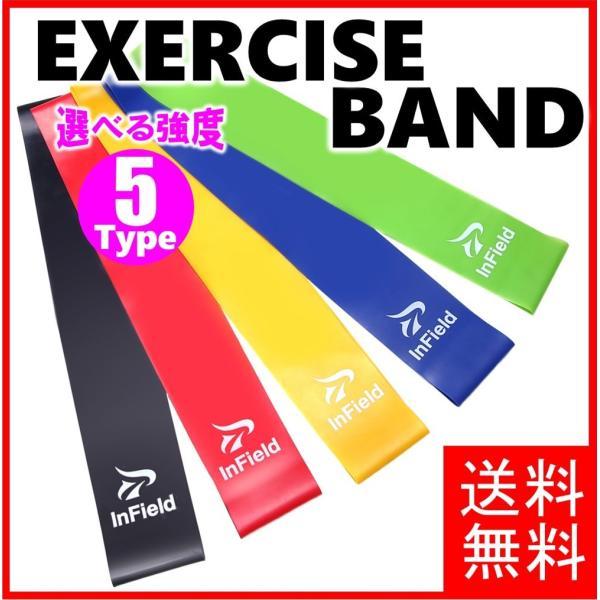 エクササイズバンド ループバンド トレーニング チューブ 強度別5本セット 筋トレ ダイエット|comfortablegoods