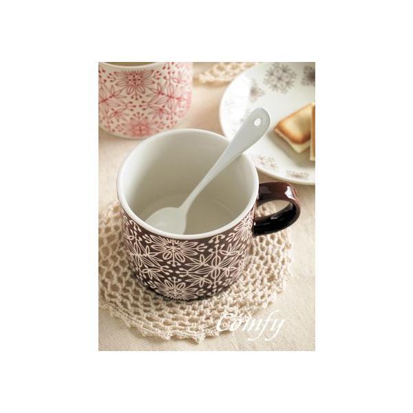 マグカップ フラワーモザイク マグカップ ダークブラウン 北欧雑貨 アンティーク調|comfy-shop|05