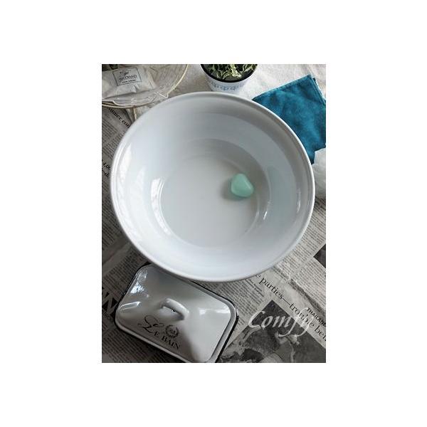 ホーロー雑貨 ホーロー 洗面器 ホワイト 琺瑯 北欧雑貨 カントリー雑貨 キッチン雑貨 ナチュラル雑貨  comfy-shop 04