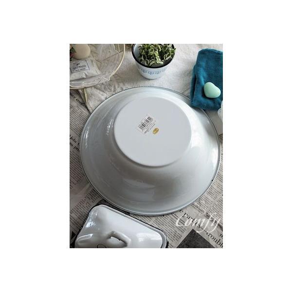 ホーロー雑貨 ホーロー 洗面器 ホワイト 琺瑯 北欧雑貨 カントリー雑貨 キッチン雑貨 ナチュラル雑貨  comfy-shop 05