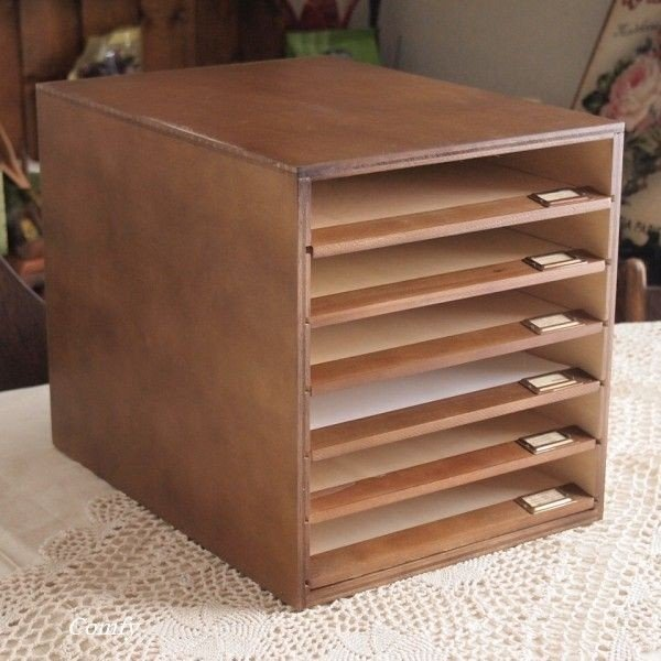 書類ケース A4 おしゃれ ナチュラル雑貨 6段 書類棚 ブラウン A4サイズ|comfy-shop