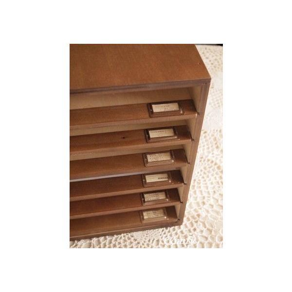 書類ケース A4 おしゃれ ナチュラル雑貨 6段 書類棚 ブラウン A4サイズ|comfy-shop|03
