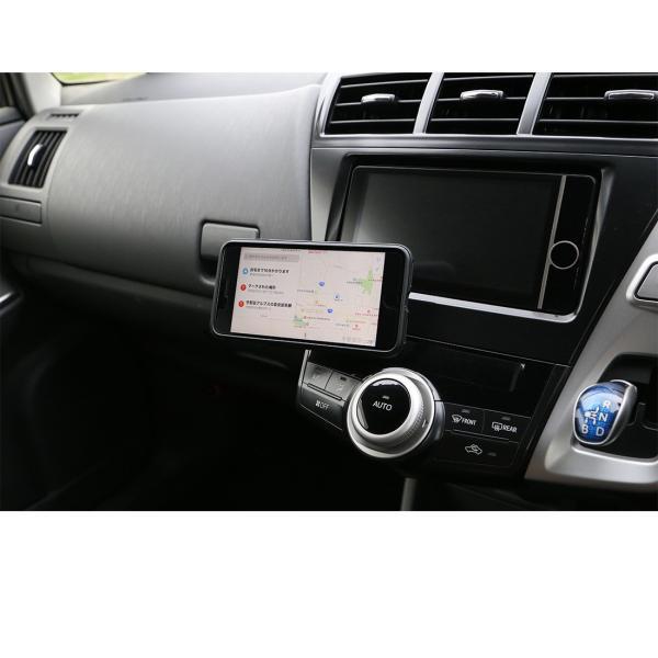 スマホホルダー 車 車載ホルダー スマホスタンド マグネット 携帯 スマートフォン commers-shop 10