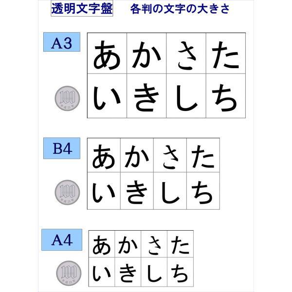 (左配列・弊社標準)コミュニケーションボード・透明文字盤・A3判|communication-board|04