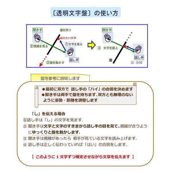 (左配列・弊社標準)コミュニケーションボード・透明文字盤・A3判|communication-board|05