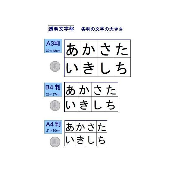 (みぎ配列)コミュニケーションボード・介護用透明文字盤・A3判 communication-board 04